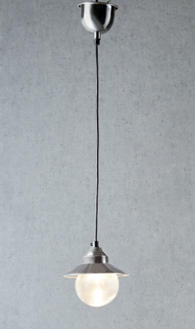 Fisherman Antique Silver Pot Light - On