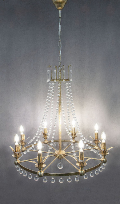 Rococo 8 Light Antique Silver Chandelier - On