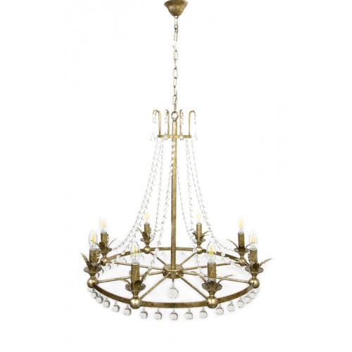 Rococo 8 Light Antique Silver Chandelier