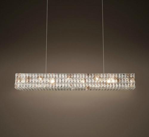 Euston 6 Light Rectangular Chandelier