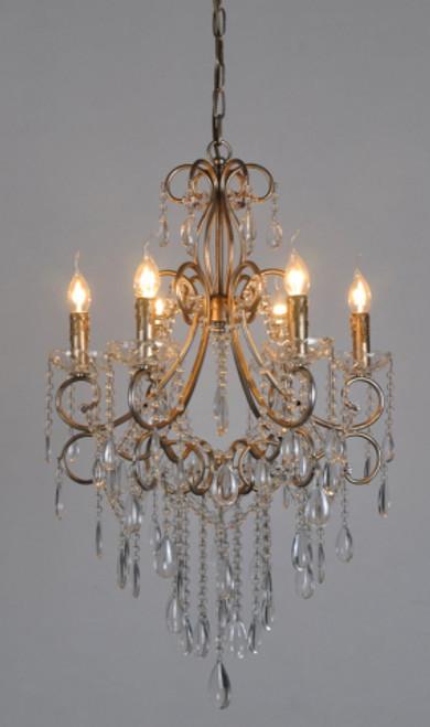 Raphael Antique Silver 6 Light Chandelier