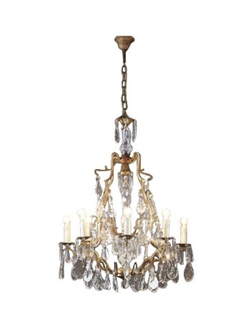 Linoges Bronze Crystal 8 Light Chandelier