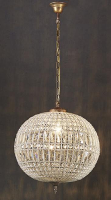 Palermo Glass Metal Chandelier
