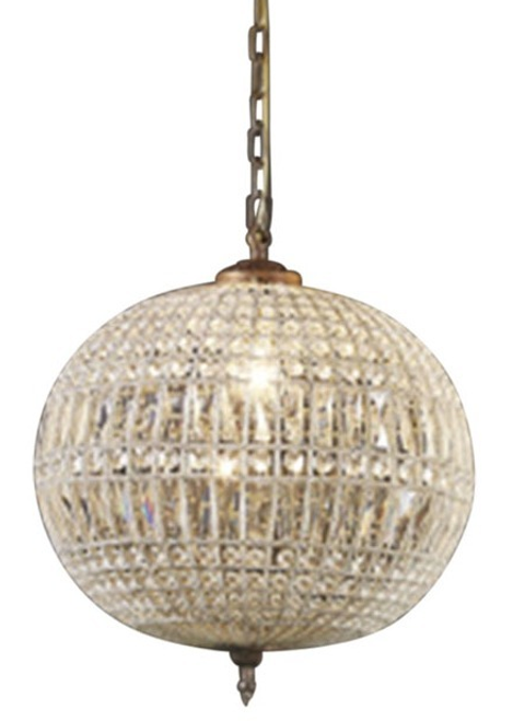Palermo Glass Metal Pendant Chandelier