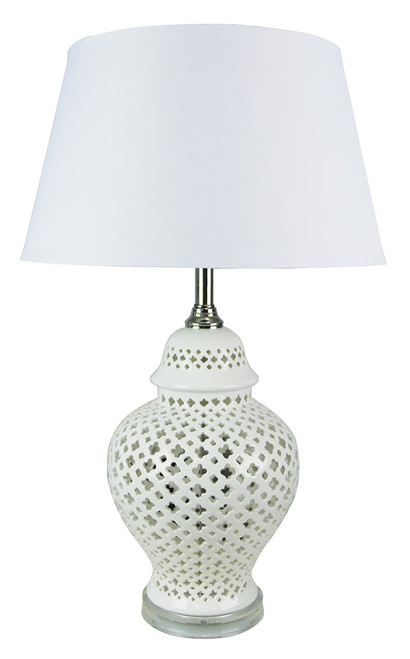 Moor White Ceramic Table Lamp