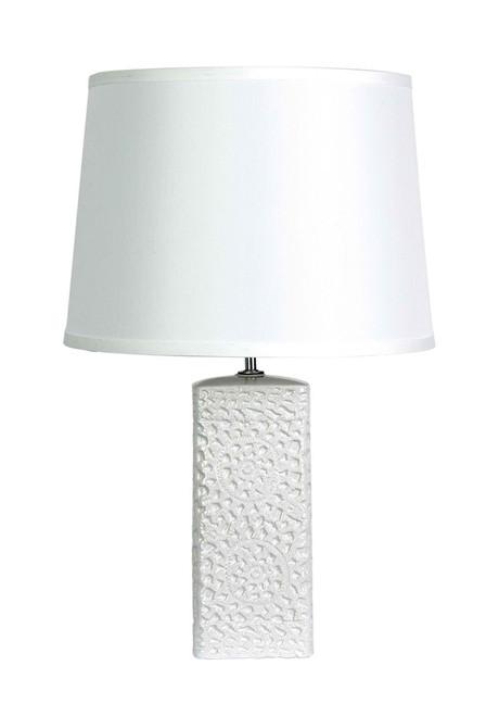 Mediterranean White Ceramic Table Lamp