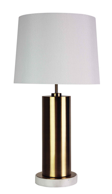 Brass and Marble Scandi Table Lamp