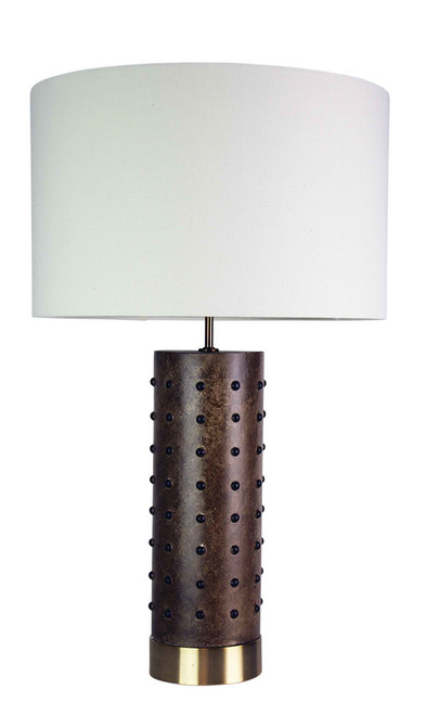 Texan Leather Look Table Lamp