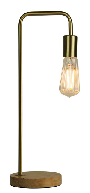 Scandustrial Lane Table Lamp- Brushed Brass
