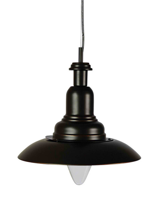 Rubbed Bronze Industrial Pendant Light