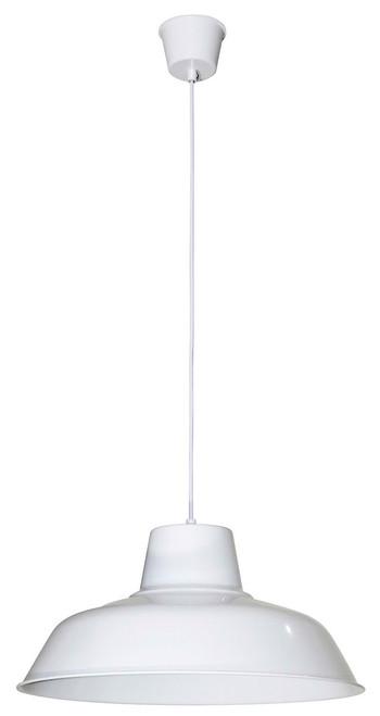 Large Retro Warehouse Pendant Light-White