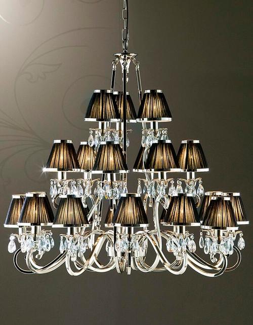 Luxuria 21 Light Chandelier In Black