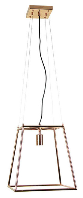 Copper Tubular Pendant Light