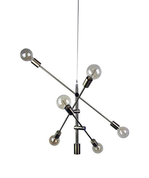 Modern Brass Sputnik Chandelier