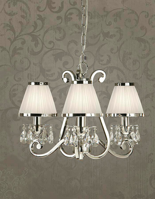 Luxuria 3 Light Chandelier in White