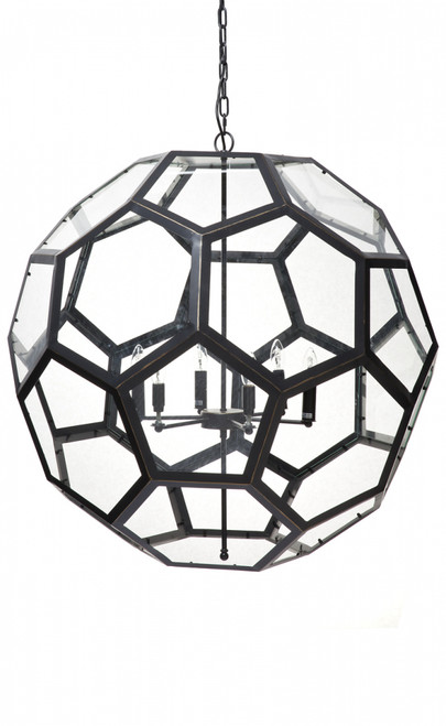 Large Pentagonal Bedford Pendant Light - 90cm