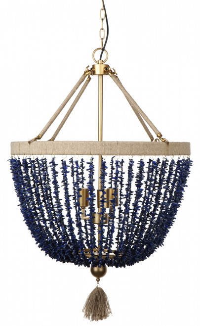 Coastal Beaded 4 Light Pendant Chandelier