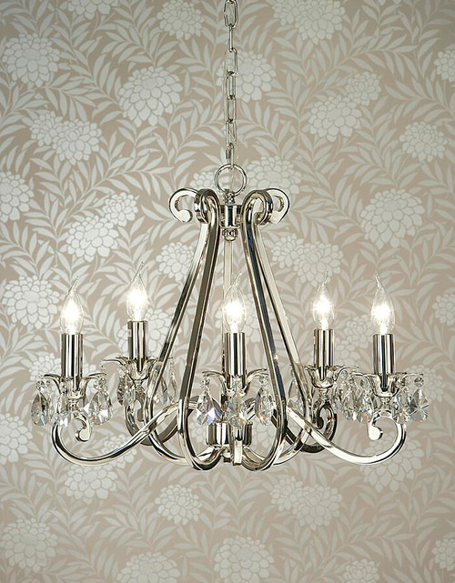Luxuria 5 Light Chandelier With No Shades by Viore Design
