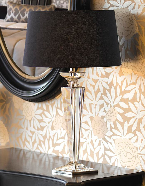 Porter Rhodes Pure Black Linen Table Lamp