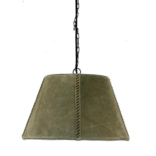 Leather Cone Shaped Pendant Light