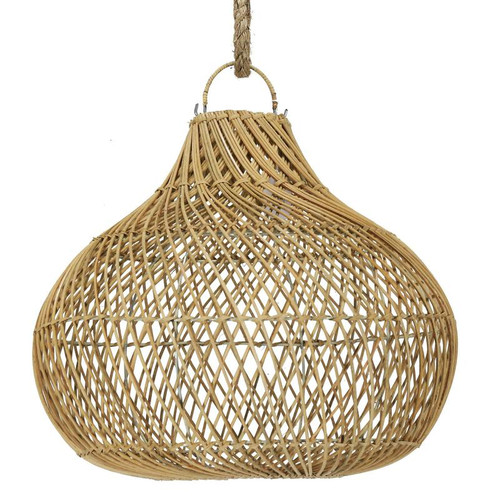 Rattan Bulb Pendant Light - Natural