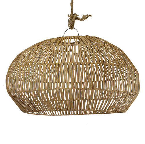 Rattan Angular Pendant - Natural