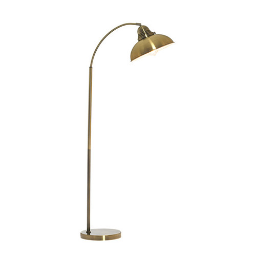Manor Floor Lamp Weathered Brass