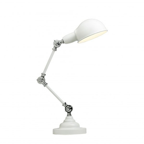 Elton Adjustable Table Lamp - White