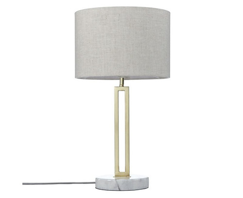 Margleus Metal Table Lamp with Marble Base - Light switched off