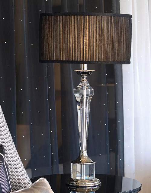 Dresden Table Lamp in Black Sheer