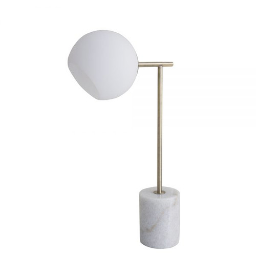 Helium Marble Brass Table Lamp