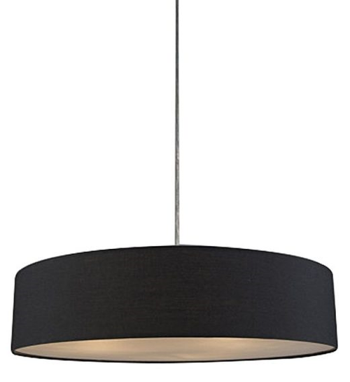 Mara Drum Pendant Light -- Black