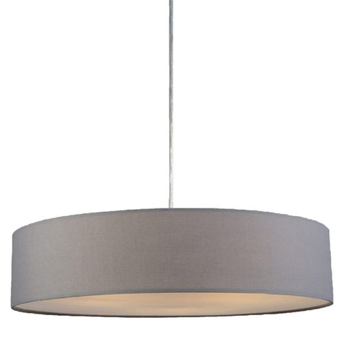 Mara Drum Pendant Light -- Grey