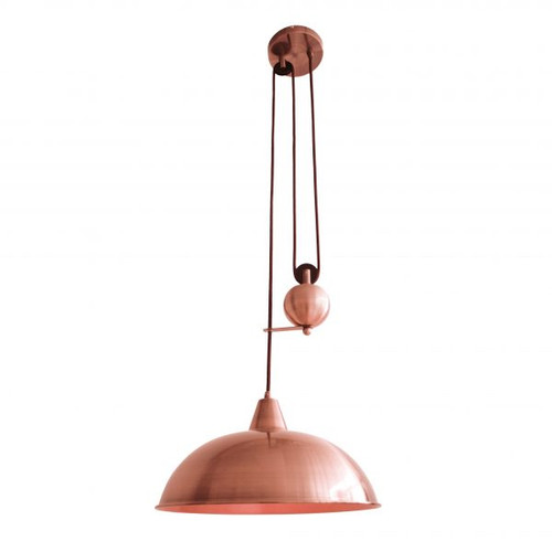 Jess Rise & Fall Pendant Pulley Light - Copper