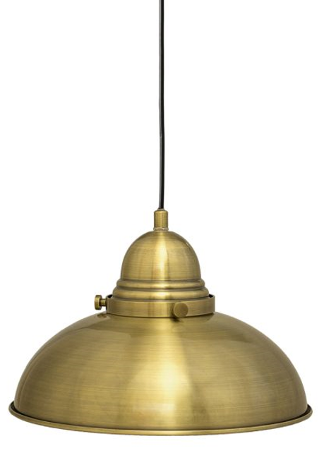 Manor 1 Light Pendant Light  - Weathered Brass