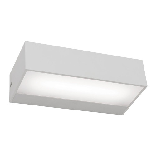 Abbey LED Exterior Up Down Wall Light in White