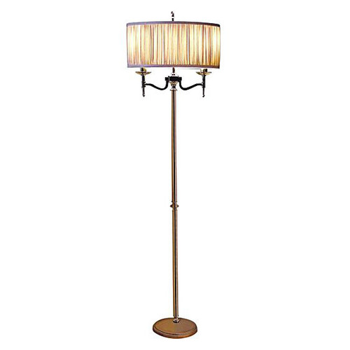 Stanford Nickel Floor Lamp in Grey by Viore Design