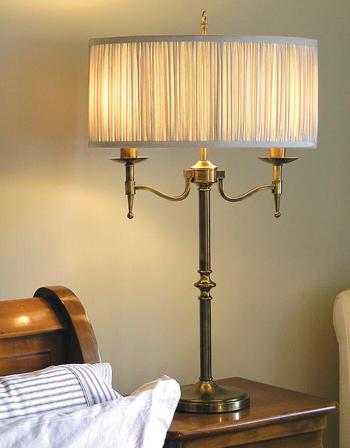 Stanford Grey Brass Table Lamp