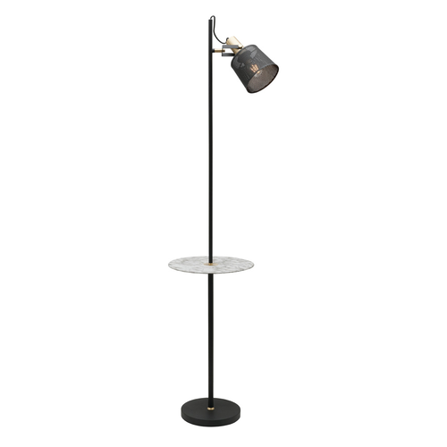 Arizona 1 Light Mesh Floor Lamp with Table