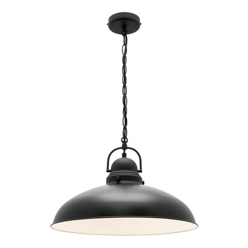 Telescopic Dome Black 1 Light Pendant
