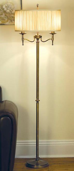 Stanford Brass Floor Lamp in Sand