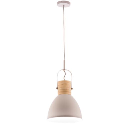 Calico Matt Stone Plywood Pendant Light in Grey