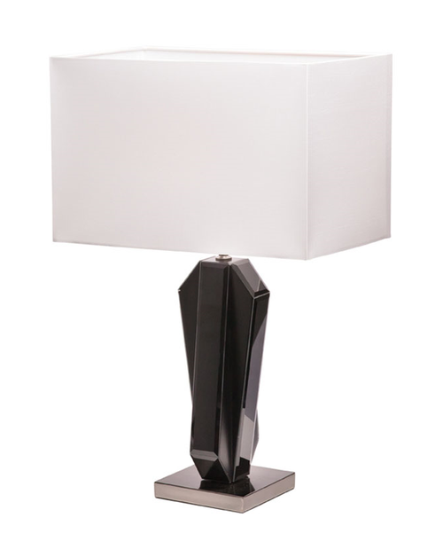 Manhattan Black Mirror Table Lamp