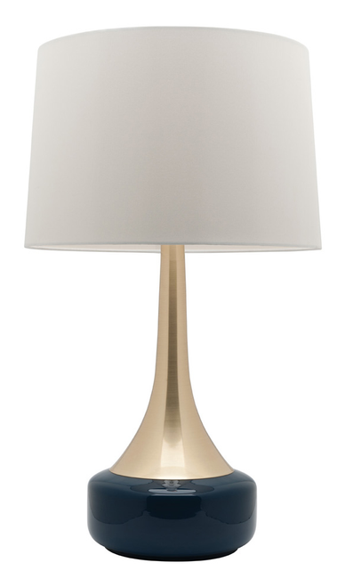 Galleria Brass Navy Table Lamp