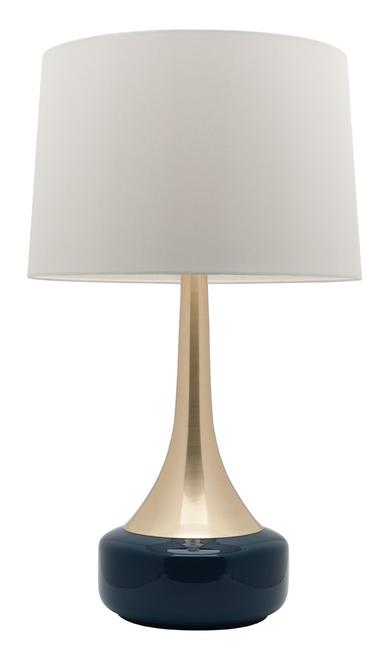 Galleria Brass Navy Table Lamp