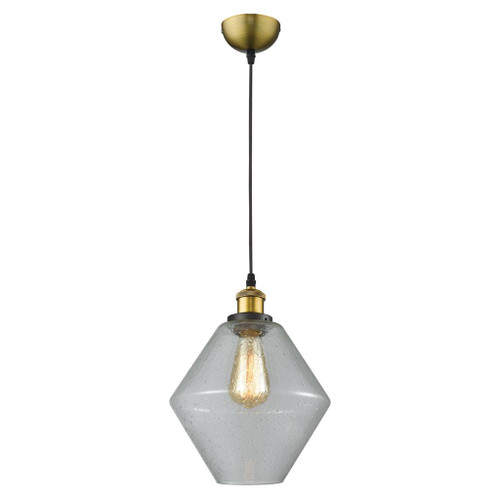 Open Diamond Glass Pendant Light - Clear