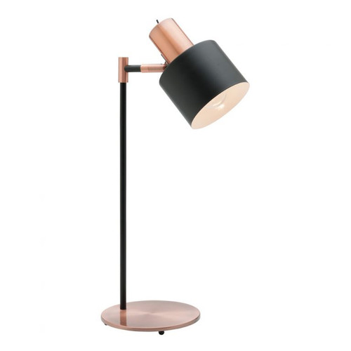 Benjamin Black and Copper Table Lamp
