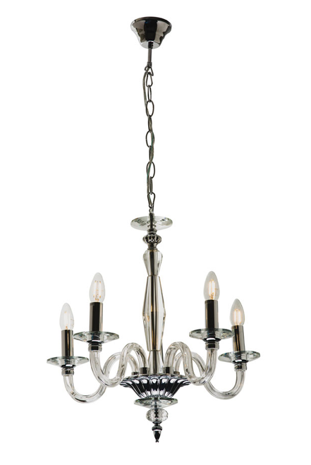Classic 5 Light Crystal Pendant Chandelier