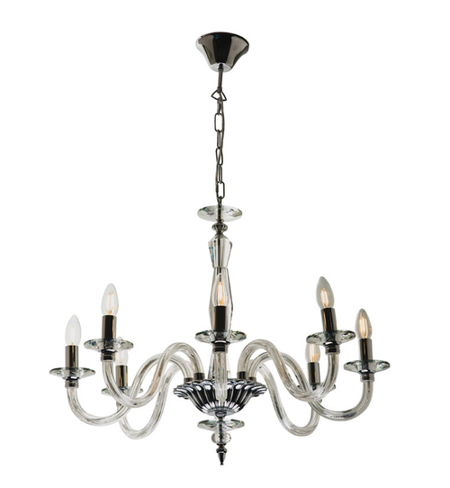 Classic 8 Light Crystal Pendant Chandelier