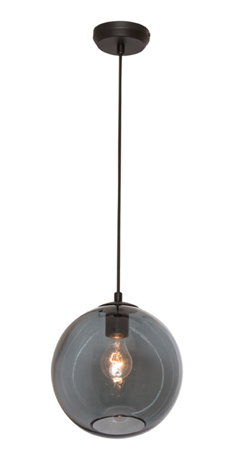 Milan 1 Light Pendant Light in Black